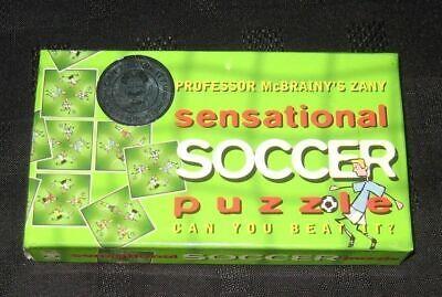 2019 Ultimo Disegno Professor Mcbrainy's Demenziale Senstational Soccer Puzzle-mostra Il Titolo Originale Lieve E Dolce