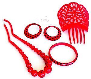 392b2edc2431 La imagen se está cargando Set-de-complementos-flamenco-Sevillana -peine-collar-Conjunto-