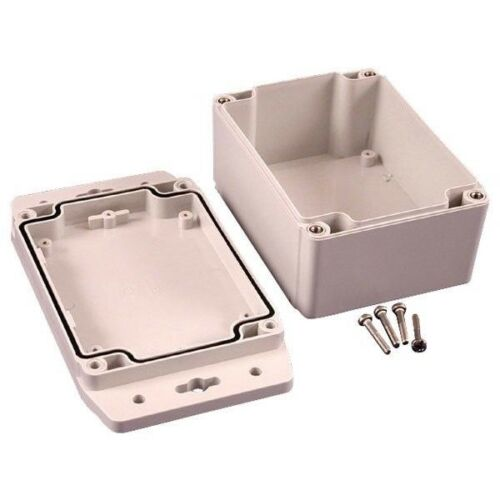 Hammond 1555FF42GY IP67 Watertight Enclosure with Flanged Lid 120 x 91 x 62mm