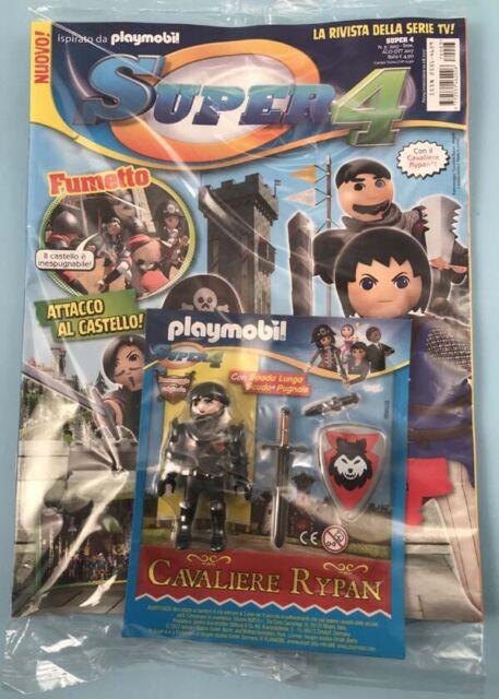 PLAYMOBIL sealed Magazine Super4 4//2017 BARBA FUOCO limited edition
