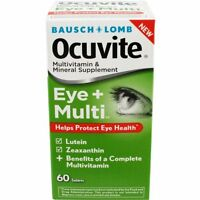 4 Pack Bausch + Lomb Ocuvite Eye + Multivitamin 60 Tablets Each on Sale