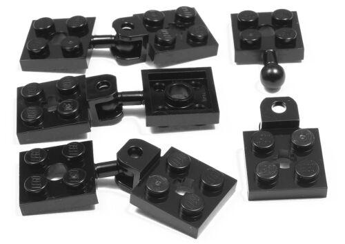 4 x Anhänger Kupplung 2x2 auf 2x2 schwarz LEGO 15456 63082 NEUWARE