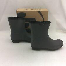 Kamik Women's JennyLo Waterproof Ankle Rain Boots, wellies,  Charcoal, 8