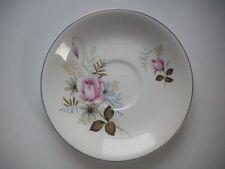 Alfred Meakin GLO-WHITE - Pale Pink Rose Pattern - Saucer - VGC - Retro/Vintage