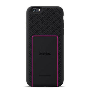 look for 24b35 ca3ca Details about iPhone 6S / 6 DOG & BONE Wireless Charger Battery Case Cover  + Pad - Black/Pink