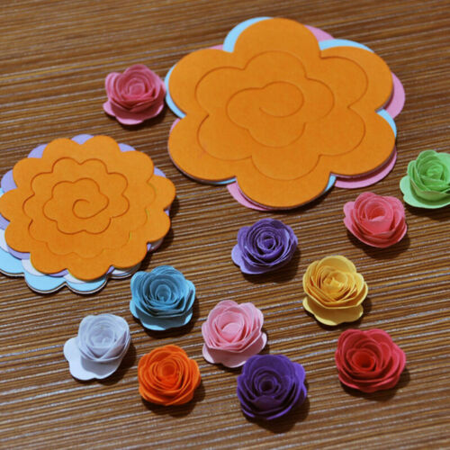 20 pcs//set Quilling Paper Mixed color Origami DIY Flower J7L8