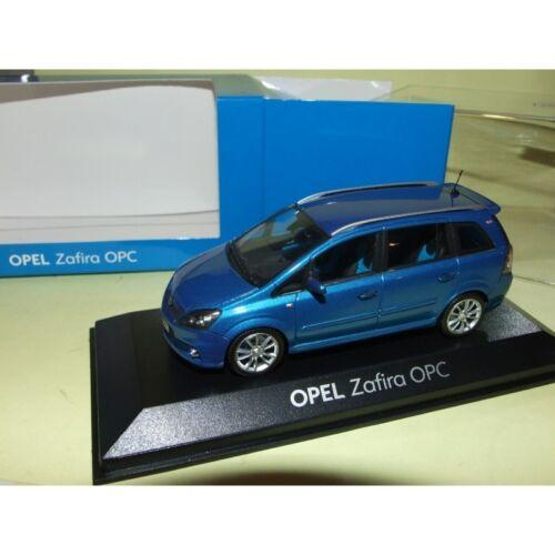 Opel zafira b opc blue 1:43 minichamps