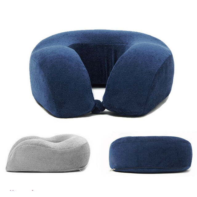Navy Blue Neck Pillow Soft Comfort