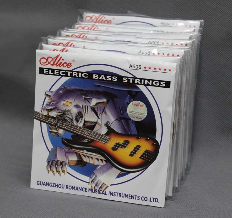 Alice A606(4) Steel Nickel Guitar Strings 1st-4th Electric Bass Strings 10 Sets