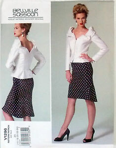 VOGUE PATTERN TOP W/ PLEATED PLENUM & SKIRT MISSES' SIZE 8-16 or 16-24 # V1296