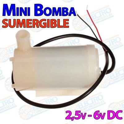 Mini Submergible DC Bombas de Motor 3V 120L//H Bajo Nivel de Ruido de Maxima El