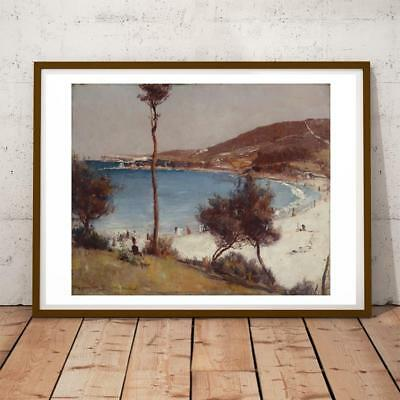 Art Prints Sweet-Tempered 30x22 Inch Tom Roberts Holiday Sketch At Coogee Art Print Fine Quality