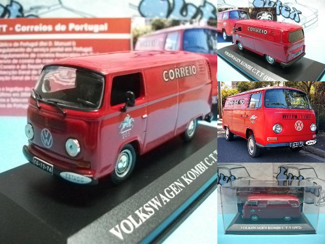 Van furgoneta carrinha  Volkswagen Kombi  - CTT Portugal 1972 Ixo 1 43