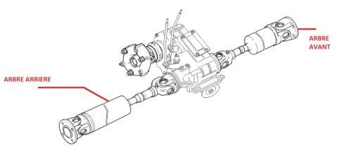Arbre de transmission arrière renforcé LADA Niva 1600 1700 1900 D