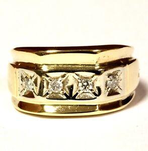 14k-yellow-gold-16ct-SI3-I1-I-diamond-wedding-band-ring-10g-gents-estate-7-3-4