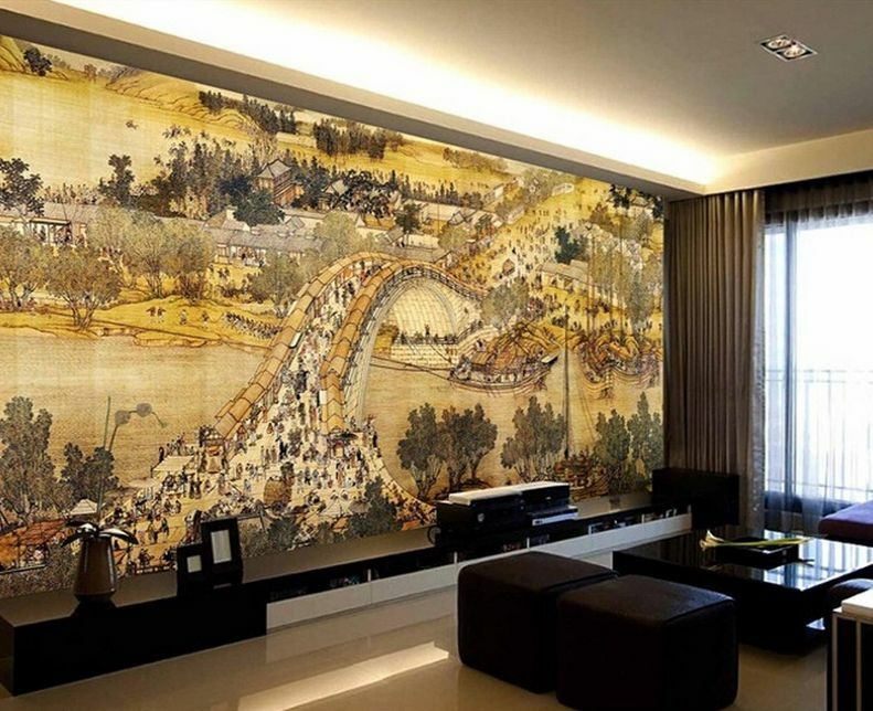 3D Mega Ancient Riverside City 209Wall Paper Wall Print Decal Wall AJ Wall Paper