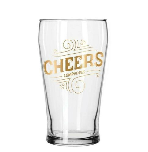 Tiger Cheers Compadres Pub Beer Glass Victorian Trading Set of 4 Easy