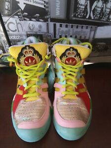 f96db58338eb adidas Originals Mens Jeremy Scott JS Street Ball Zebra Shoes Size ...