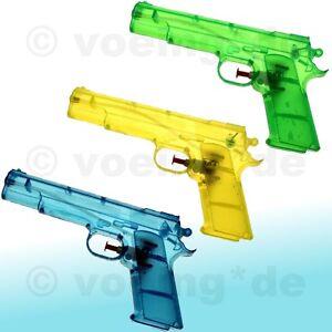 3x-Wasserpistole-Wasser-Pistole-Spritzpistole-Kanone-Transparent-Klassiker-20-cm