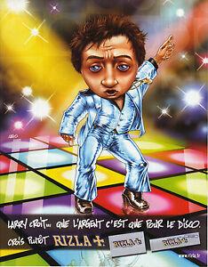 PUBLICITE ADVERTISING  2002   RIZLA  papier à rouler LARRY pour le disco