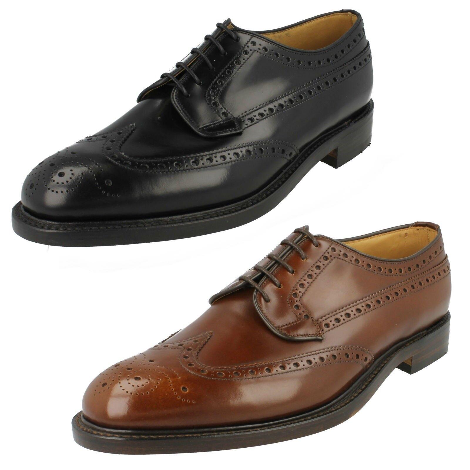 Loake Hombre Cuero Calado Formal Elegante Boda Zapatos con Cordones Braemar