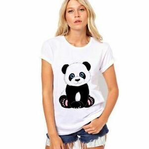 Women-s-Print-Cartoon-Panda-Short-Sleeve-T-shirt-2XS