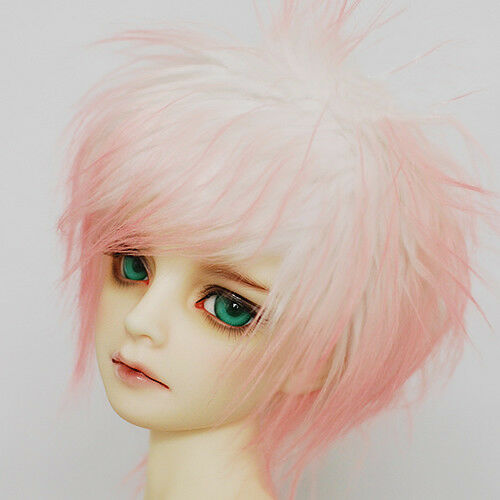 "3/""-4/"" 9-10cm BJD fabric fur wig White cherry powder PukiFee 1//12 Doll Antiskid"