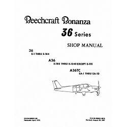 beechcraft bonanza 36 a36 a36tc shop manual ebay rh ebay com Beech Bonanza A36 Interior Beech Bonanza Crash