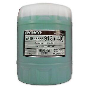 20-1x20-Liter-PEMCO-ANTIFREEZE-913-Frostschutz-Fertiggemisch-gruen-40-C