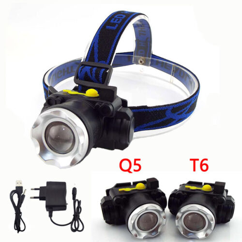 Rechargeable T6 Q5 Led Headlamp Headlight camping frontal head Lamp Flashlight