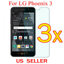 3x Clear LCD Screen Protector Guard Cover Shield Film For LG Phoenix 3 / M150