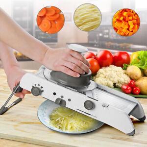 18in1 Mandoline Fruit Vegetable Slicer Stainless Steel Adjustable Blades Kitchen