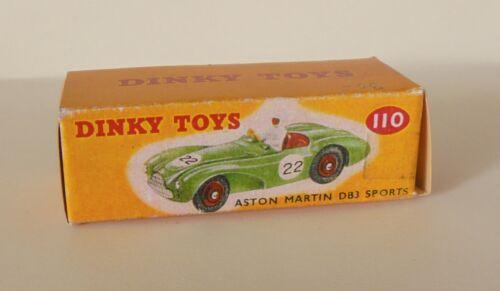 Repro box Dinky nº 110 Aston Martin DB 3 Sports verde y beige