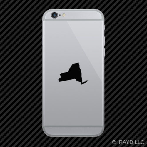 2x New York Shaped Cell Phone Sticker Mobile NY many colors