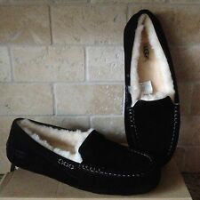 UGG Ansley Black Suede Moccasin Slippers Shoes US 10 Womens 3312