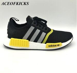 Adidas-NMD-R1-J-Black-Yellow-034-Thunder-034-SZ-5-5-6-5-Junior-EG9730