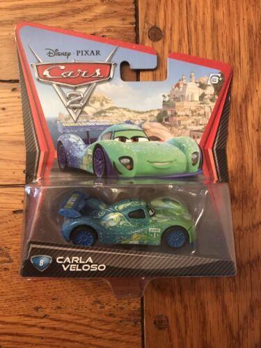 Mattel Disney Pixar Cars 2 CARLA VELOSO #8 Car 1:55 Scale