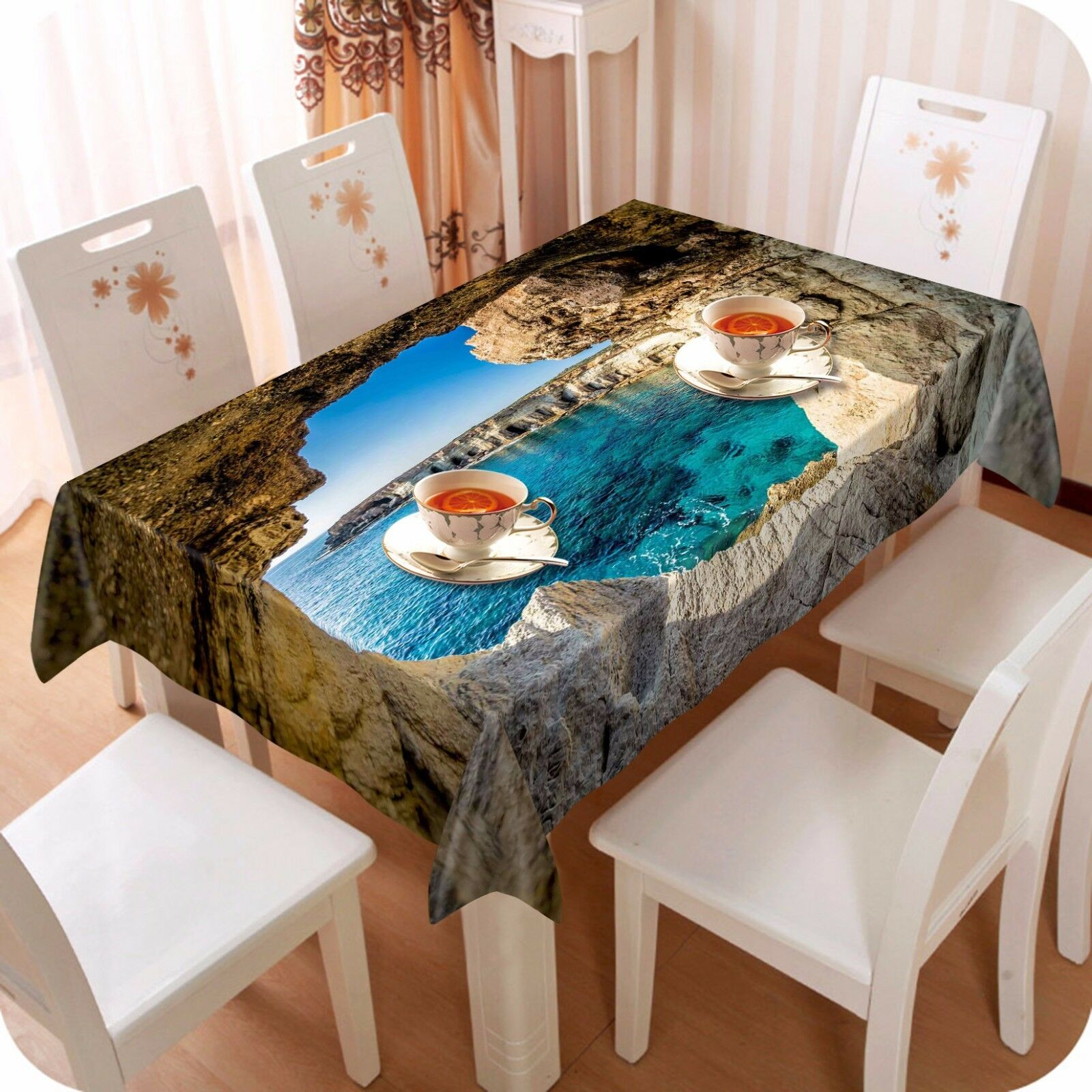 3D Stone hole9 Tablecloth Table Cover Cloth AU Birthday Party Event AJ WALLPAPER AU Cloth f260f4