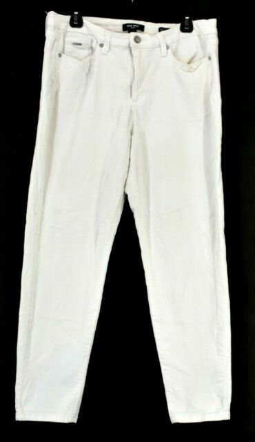 Nine West Jeans Women's Size 14 Gramercy Skinny Ankle Denim Jeans White
