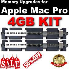 4GB (2x 2GB) DDR2 667MHz FB-DIMM Apple Mac Pro 2006 Dual Core Memory SALE 50% UK