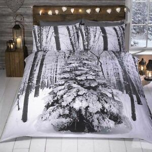 Winter-Sparkle-Christmas-Tree-Quilt-Duvet-Cover-Bed-Set-Single-Double-King