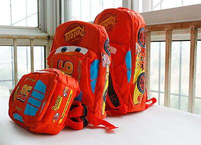 New Child Pixar Cars Mcqueen Kids Boy Girl Backpack School Bag Birthday Gift