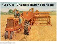 1953 Allis Chalmers Tractor / Harvester Refrigerator / Tool Box Magnet