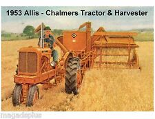 1953 Allis Chalmers Tractor / Harvester Refrigerator / Tool Box  Magnet