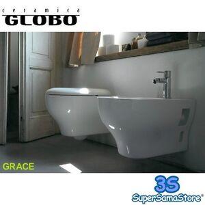 3S SANITARI BAGNO SOSPESI WC SEDILE BIDET GRACE CERAMICA GLOBO GRS02 ...