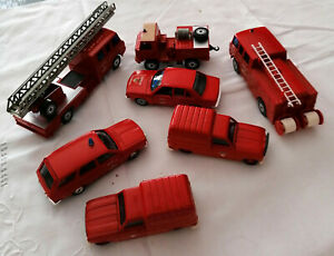 7-Vehicules-pompiers-Solido-tres-bel-etat