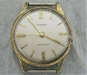 Nordex Armbanduhr,Handaufzug,mechanisch,ohne Band,Bastleruhr,