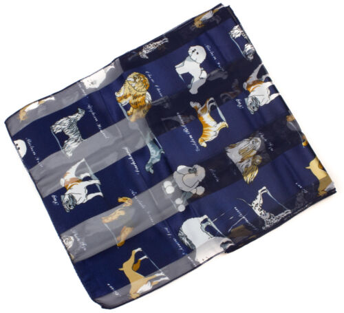 Ladies Soft Lightweight Dog Printed Scarf  Various Breed  Dogs /& Name Printed