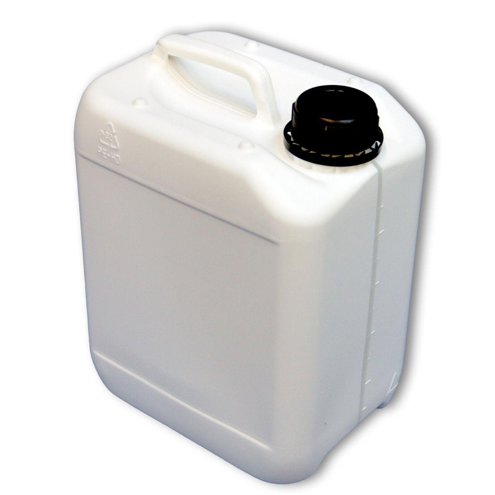Bidon plastique 5 L, DIN45 blanco gradué, PEHD, fabriqué en Allemagne (22024)