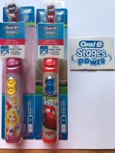 Oral B Stages Power Kids Disney Cars and Princess Electric Battery ... 449bf6d91ded